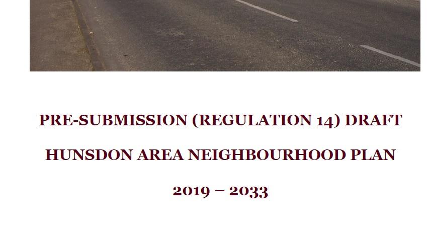 Hunsdon Area Neighbourhood Plan Regulation 14