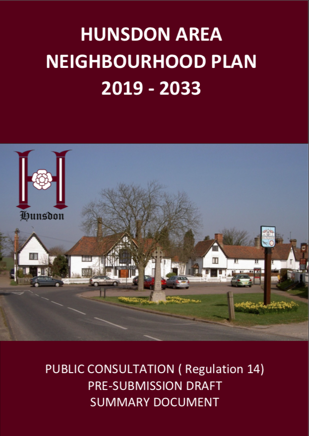 Hunsdon Area Neighbourhood Plan - Summary Document